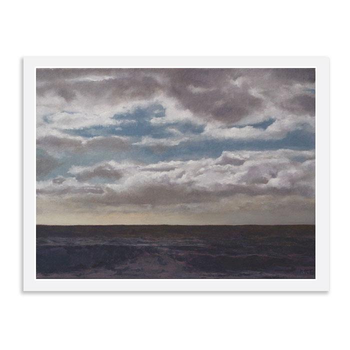 Shoreham Beach dark sea