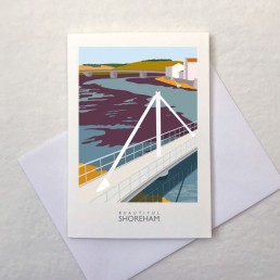Adur Ferry Bridge greetings card