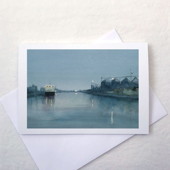 'Harbour Evening' Greeting Card