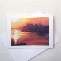 'Harbour Sunrise' Greeting Card