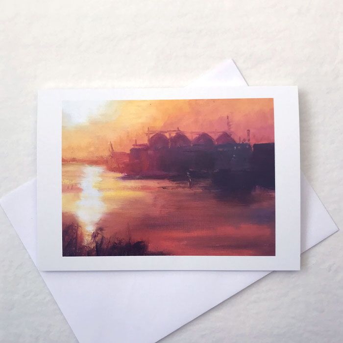 'Harbour Sunrise' Greeting Card