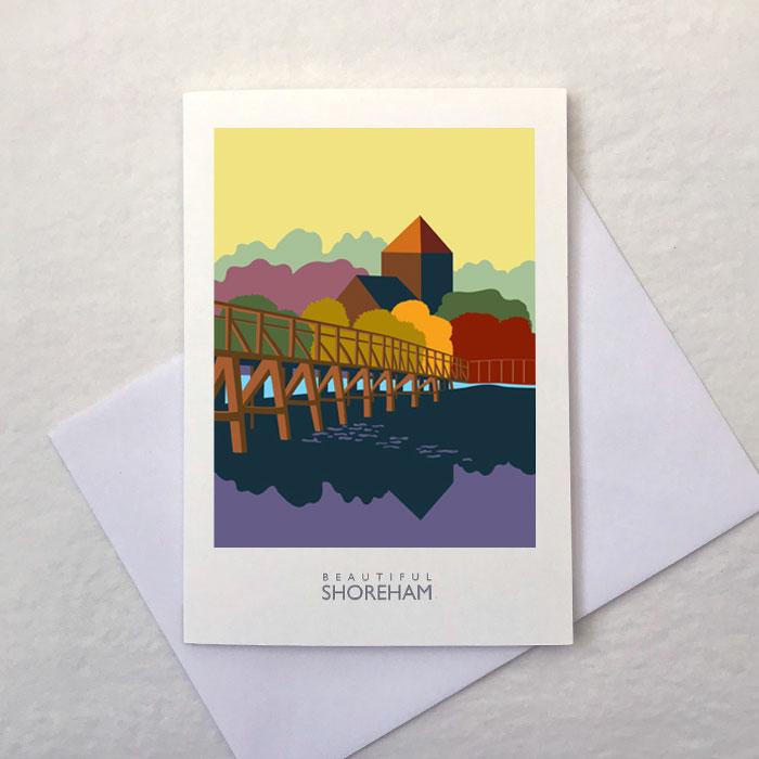 The Toll Bridge Greetings Card